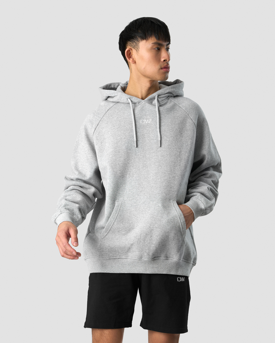 Essential Hoodie Loose Fit Light Grey Men